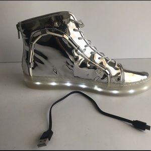 Katy Perry Miranda Light Up Silver Hightop Sneaker